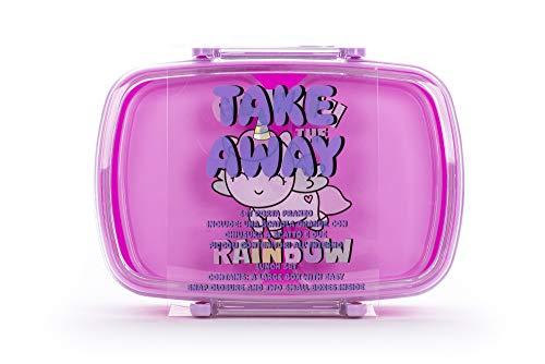 Tri-Coastal Design - Fiambrera Bento Box para niños sin BPA, ligera con recipientes interiores (Happy Unicorn).
