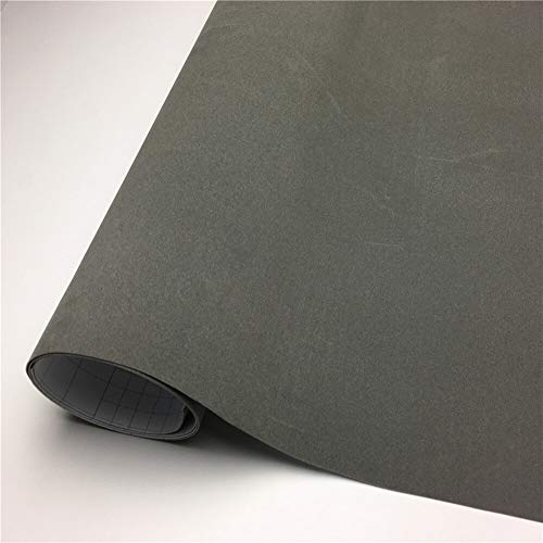ABCABC Vinylverpackungs-Velvet-Vinylverpackungs-Film-Auto-Wrapping-Blatt-Aufkleber-Blase for Auto-Wraps Fahrzeug Aufkleber Console Computer-Haut (Color Name : Grey, Size : 135X30 cm)