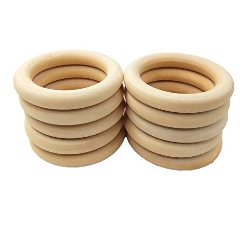 Find Discount Alenybeby 65mm Wooden Baby Teething Rings Infant Teether Toy DIY Accessories for 3-12 ...