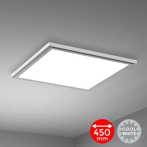 Ausladende Deckenleuchte 165cm breit 3x E14 40W Deckenlampe in weiß Schirm Lampe