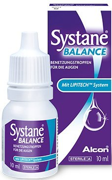 Systane Balance MD Benetzungstropfen, Spar-Set 2x10ml. Augentropfen mit LipiTech System zur Linderung trockener, tränender Augen bei Lipidmangel.