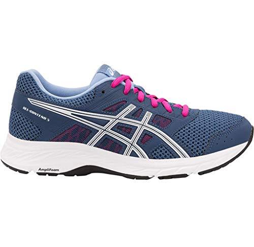 Asics Gel-Contend 5, Zapatillas de Running para Mujer, Negro (Black/Silver 002), 41.5 EU