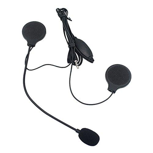 Gazechimp 1 Pieza Casco de Moto para Auriculares Estéreo de 3,5mm Comodos...