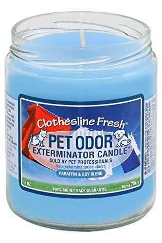Mutneys Odour Elimination Candle Clothesline Fresh Scented Air Freshener Remover for Dog Cat Smells in the Home Eliminate Dog Cat Puppy Kitten Animal Odours