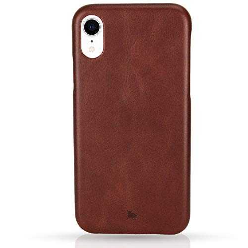 BULLAZO Menor Classic, Edle Hülle aus Leder, Kompatibel mit iPhone XR 10R, Braun