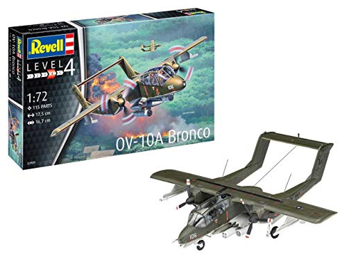 Revell-OV-10A Bronco Kit Modelo, Color Grey, 17,5cm (03909