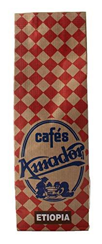 Cafés AMADOR - Café en GRANO Natural Arábica - ETIOPÍA YIRGACHEFFE (2x250g) 500g