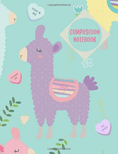 Composition Notebook: Llama Hearts Notebook College Ruled Journal - Back to School Diary Planner Gift Students Teachers Teens 100 sheets- Add On Item
