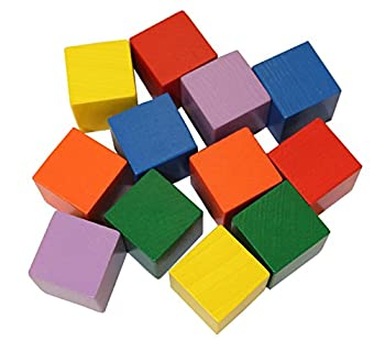 HABA Baby s First Basic Block Set - 12 Colorful Wooden Cubes  Made in Germany