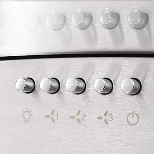 vidaXL Campana Extractora de Pared 90cm Acero Inoxidable 756m³/h LED Cocina