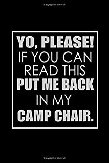 Yo, Please If You Can Read This, Put Me Back In My Camp Chair: Hangman Puzzles | Mini Game | Clever Kids | 110 Lined Pages | 6 X 9 In | 15.24 X 22.86 Cm | Single Player | Funny Great Gift