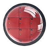 Gbziyjk Tiradores de cajón para decoración de Armario de Cocina de Oficina en casa,Gabinete Rojo