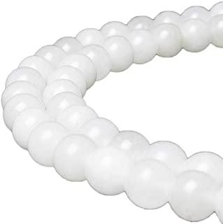 white jade beads