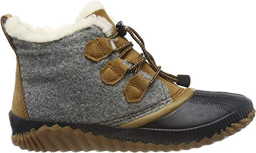 Price comparison product image Sorel - Youth Out N About Plus Waterproof Winter Boot for Kids,  Quarry,  Camel Brown,  5 M US