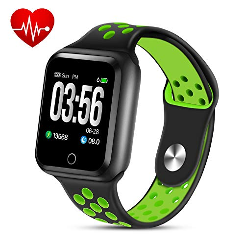 ZGPAX Smart Watch Activity Tracker, Fitness Tracker Waterproof Pedometer Wrist Watch for Women Men Kids with Heart Rate Monitor Sleep Monitor Step Counter Calorie Counter