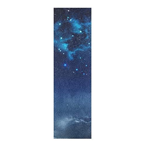 Aflyko Space Blue Skateboard Grip Tape Sheet Bubble Free Longboard Scooter Griptape 9' × 33'