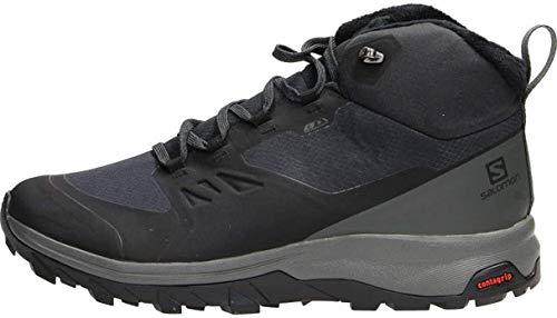 Salomon Outsnap Climasalomon™ Waterproof (impermeable) Hombre Zapatos de invierno, Negro (Black/Urban Chic/Black), 42 EU