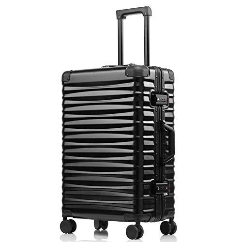 kroeus(クロース)旅行用品 スーツケース 安心1年間保証 フレーム開閉 海外TSAロック搭載 8輪キャスター キャリーバッグ 機内持込可 20
