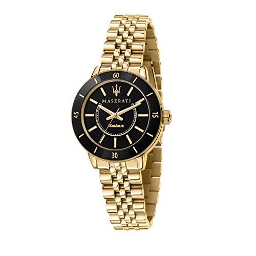 Maserati Reloj Mujer, Colección SUCCESSO Solar, Cuarzo, Solo Tiempo, en Acero, PVD Oro - R8853145503