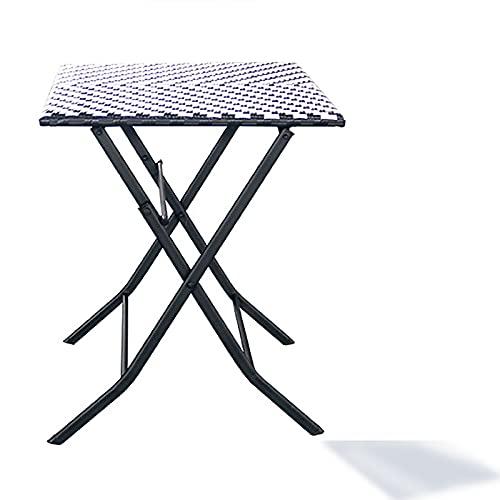SUN RNPP Juego de Muebles de jardín de imitación PE Protección del Medio Ambiente Rattan Bistrofor de 3 Piezas para Exteriores,Table