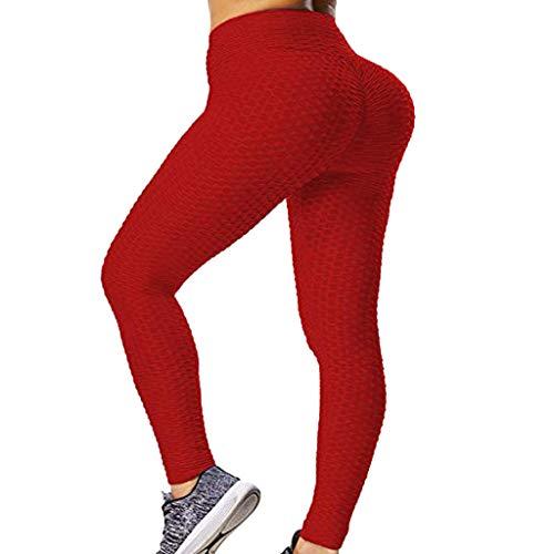 Mujer Leggins Pantalones Deportivos,Mallas Pantalones Deportivos Yoga de Alta Cintura Elásticos y Transpirables para Running Fitness con Elásticos Fannyfuny