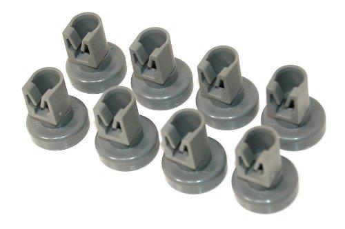 Zanussi 50286967000 - Ruedas para cesta superior de lavavajillas (8 unidades), color gris
