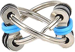 Flippy Chain Fidget Toy Perfect for ADHD, Anxiety, and Autism - Bike Chain Fidget Stress Reducer for Adults and Kids Blue