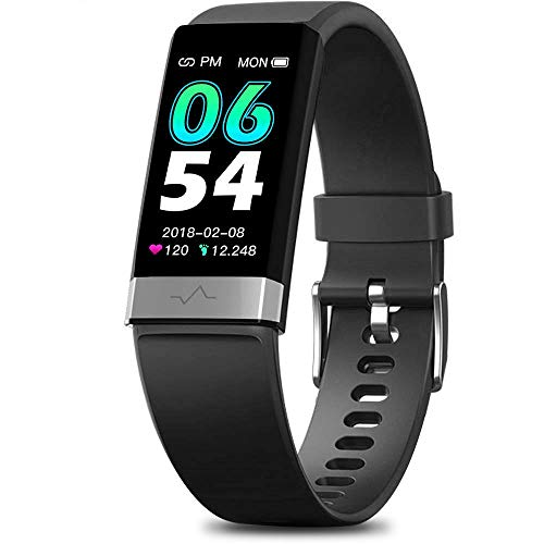 MorePro SPO2 Blood Oxygen Blood Pressure Heart Rate Monitor Waterproof Fitness Tracker Activity Tracker HRV Health Watch with Enhanced Sleep Monitor for Android iOS Women Men