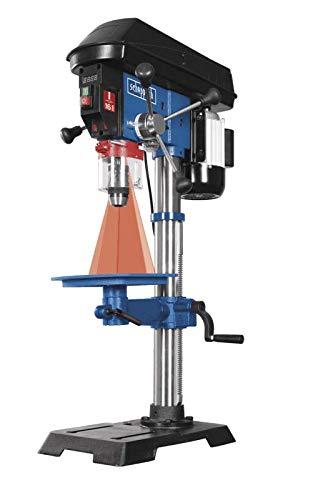 Scheppach Profi Säulenbohrmaschine DP18 (550 W, Gusseisen-Konstruktion, stufenlose Drehzahlregulierung, Bohrfutter 16mm, Laser, LED)