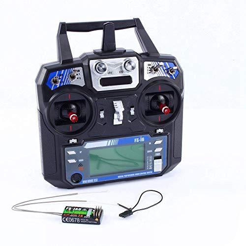 Emisor para RC Avión, mando a distancia para modelo helicóptero de FS-i6 receptor para juguete avión 2.4G