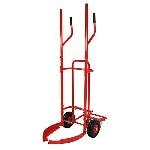 HELO Profi Reifenkarre Reifenwagen mit 160 kg Tragkraft, 180° Spannbügel mit Klemmfunktion, Luftreifen und Lenkrollen, Reifen Stapelkarre mit speziellem Kippmechanismus zur Entlastung der Arme