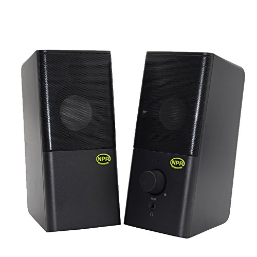 NPR Comtech NPR Aura 204-2.0 Channel Multimedia Speakers with Headphone Jack