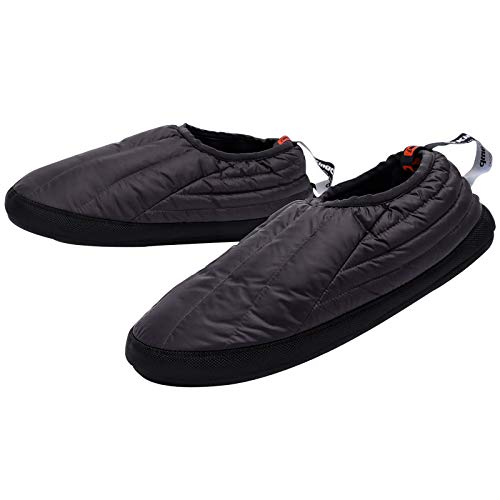 KingCamp Unisex Down Camping Slippers Soft Winter Slippers with Non Slip Rubber Sole & Carry Bag (3 Colors and 4 Sizes)