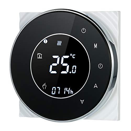 Irishom Termostato Wi-Fi per Caldaia a Gas,Termostato Digitale,Programmabile Display LCD Touchscreen con Retroilluminazione Funzione di Controllo Vocale,Cronotermostato BHT-6000-GC