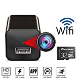 Spy Camera Charger - Hidden Camera - WiFi Spy Camera - USB Charger Camera - Hidden Spy Camera - Nanny Camera - Mini Spy Camera - Hidden Cam - Wireless Video Recorder Home Security System