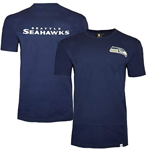 Majestic Seattle Seahawks NFL Noos Gamily T-Shirt S Navy