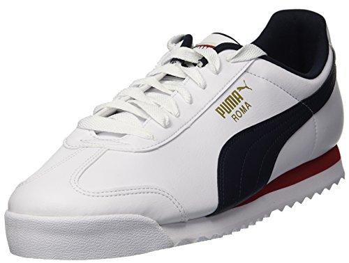 PUMA Roma Basic Fashion Sneaker para hombre, Blanco (Puma White-night Sky), 43 EU