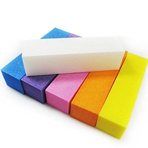 Bloc de tampons à ongles SUPVOX 5PCS tampons de ponçage blocs fichiers outils de soins de pédicure manucure (couleur aléatoire)