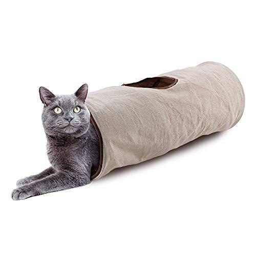 ALL FOR PAWS Katzentunnel, zusammenklappbar, für Kaninchen, Kätzchen und Hunde, Klassischer Komfort.