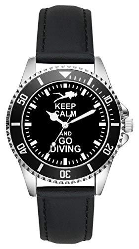 Diving Taucher Geschenk Artikel Idee Fan Uhr L-2128