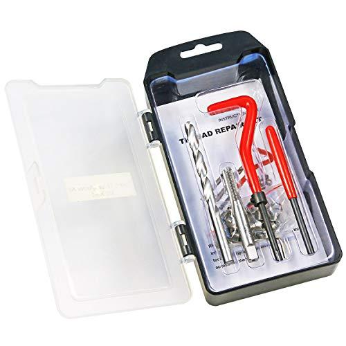 BestsQ Gewinde-Reparatur-Set, M7 x 1,0 mm, metrisches Gewinde-Reparatur-Set, kompatibles Handwerkzeug-Set für Auto-Reparatur (M7-1.0)
