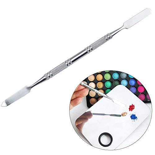 SUPVOX Spatule de Maquillage cosmétique spatule de Maquillage INOX pour Fond de Teint (Argent)