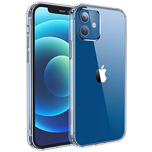 Amazon Brand – Eono für iPhone 12 Hülle & iPhone 12 Pro Hülle Vergilbungsfrei, Schlank & Kratzfeste Transparent Handyhülle, Ultra Hybrid Stoßfestigkeit iPhone 12/12 Pro Crystal Clear Schutzhülle