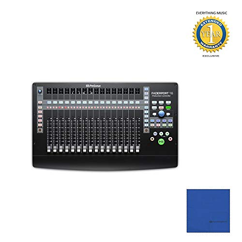 Presonus FaderPort 16 16-channel Mix Production Controller with Microfiber and 1 Year Everything Music Extended Warranty