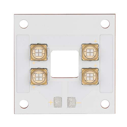MagiDeal 1Pcs 405nm 40W LED Fuente de Luz Panel de Lámpara Placa de Cobre Cuentas Integradas Violeta con Orificio