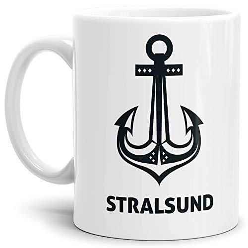 Tassendruck Anker-Tasse Stralsund Seemann/Hafenstadt/Küste/Souvenir/Kaffeetasse/Mug/Cup