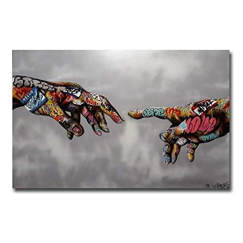 No Frame Graffiti Pop Art Impresión del cartel Arte callejero Arte urbano Sobre lienzo Mano Pared Cuadros para sala de estar Decoración para el hogar ( Size (Inch) : 60x90cm No frame )