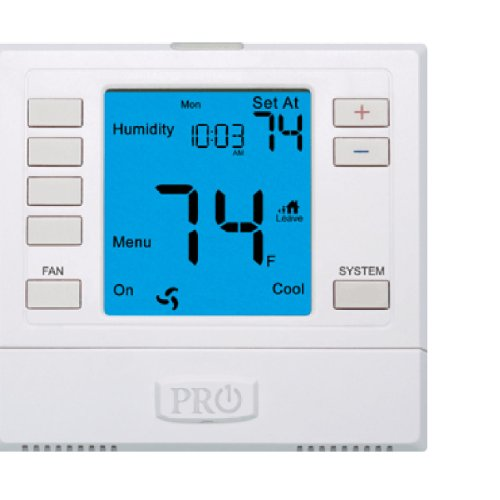PRO1 IAQ T755H Humidity Touchscreen 3 Hot/2 Cold 7 Day Thermostat with 6-Inch Screen