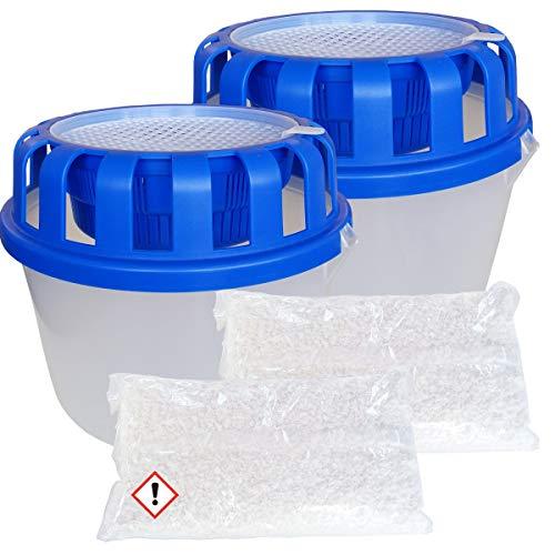 2x CAGO Raumentfeuchter Box für Luftentfeuchter Granulat lose 1kg Nachfülltabs Tabletten