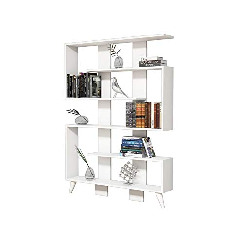 Minar by Home Mania - Libreria Design Jane - L. 120 x h. 164 cm - Bianco